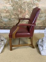 Pair of Victorian Mahogany Framed Armchairs (2 of 8)