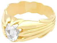 0.75ct Diamond & 18ct Yellow Gold Gent's Solitaire Ring - Antique French c.1910 (3 of 9)