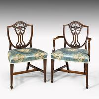 Elegant Set of 8 Early 20th Century Classical Hepplewhite Chairs (6 of 6)