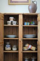 Tall Antique Pine Pantry Cupboard (6 of 15)
