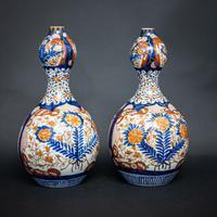 Pair of 19th Century Imari Vases