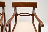 Pair of Antique Regency Period Mahogany Carver Armchairs (8 of 11)