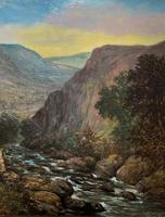 William R Stone Lovely Dolgilly North Wales Landscape Painting (4 of 13)