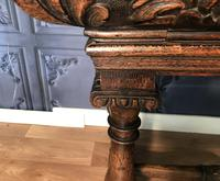 Victorian Carved Oak Library Table (6 of 25)
