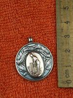 Antique Sterling Silver Hallmarked & Rose Watch Fob 1919, Cricket, Liverpool Union of Boys Club (3 of 4)