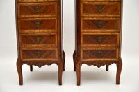 Pair of Antique French Marble Top Slim Chests of Drawers (5 of 11)