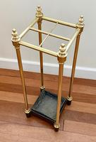 Victorian Brass & Cast Iron Stick Stand (3 of 8)