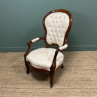 Stunning Mahogany Upholstered Antique Armchair (7 of 7)