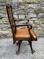 Antique Mahogany Swivel Office Desk Chair (7 of 12)