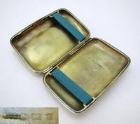 Edwardian 1902 English Antique Solid Sterling Silver Hip Pocket Small Cigarette Case (6 of 10)
