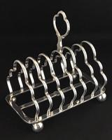 Late Victorian Silver Plated Toast Rack
