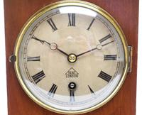 Superb Timepiece Mantle Clock -  Antique 8 Day Mahogany Dent Of London Carriage Mantel Clock (7 of 9)