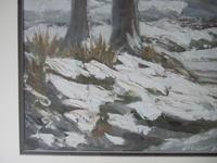 Winter Landscape - Oil on Board - Unsigned (3 of 5)