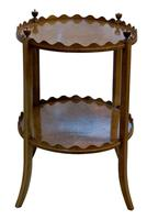Oval Inlaid Mahogany 2 Tier Table by Shoolbred (3 of 6)