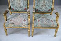 Pair of Gold French Louis XVI Style Armchairs (6 of 12)