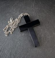 Victorian Whitby jet Cross pendant, necklace (8 of 12)