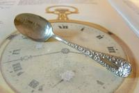 Antique American Waltham Watch Co Teaspoon 1890s Victorian Coin Silver Plated (3 of 10)
