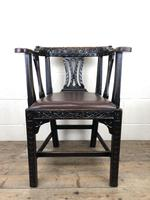 Victorian Carved Oak Gothic Armchair (M-1223) (6 of 12)