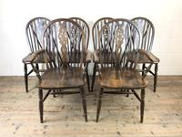 Set of Six 20th Century Wheelback Chairs including Two Carvers (2 of 20)