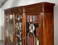 Four Door Breakfront Bookcase In Mahogany-19th Century (6 of 10)