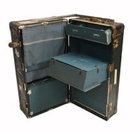 Vintage Steamer Trunk Luggage Case Harrison and  Co New York (14 of 28)