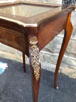 Antique Rosewood & Brass Bijouterie Display Table (3 of 10)
