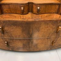 Art Deco Bow Front Chest of Drawers in Walnut (5 of 8)