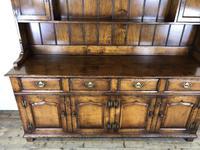 Large 20th Century Georgian Style Oak Dresser (9 of 23)