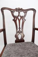 Edwardian Mahogany Chippendale Desk Chair (12 of 13)