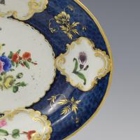 First Period Worcester Porcelain Scale Blue Oval Dish c.1770 (3 of 8)