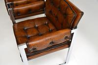 Pair of Vintage Leather & Chrome Armchairs (9 of 15)