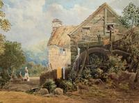 William Charles Goddard (exh.1885) Stunning Country Watermill Landscape Painting (6 of 15)