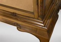 19th Century Continental Walnut Display Cabinet (3 of 6)