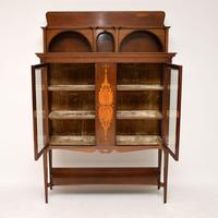 Antique Art Nouveau Inlaid Mahogany Cabinet Liberty of London (4 of 11)