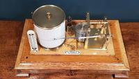 Antique Polished Oak Armstrong of Manchester Barograph (2 of 6)
