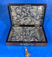 Victorian Brass Bound Burr Walnut  Card Box (11 of 11)