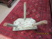 Early Victorian Welsh 3 Legged Painted Stool (2 of 3)
