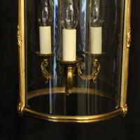 French Gilded Bronze Antique Hall Lantern (6 of 10)