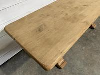 French Bleached Oak Farmhouse Table Nice Thick Top (8 of 14)