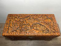 Chinese Camphor Wood Carved Birds & Flowers Chest Coffee Table (5 of 34)