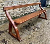 Antique Pitch Pine Gothic Style Church Pew Bench (4 of 13)