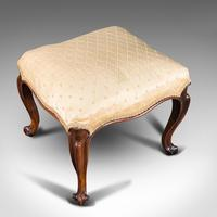 Antique Dressing Stool, English, Walnut, Upholstery, Boudoir Seat, Regency c.1820 (7 of 12)