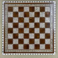 Rosewood bone and mother of Pearl chess board