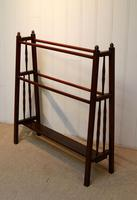 Arts & Crafts Walnut Towel Rail