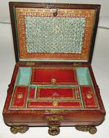 Regency Leather Covered Work Box (2 of 7)