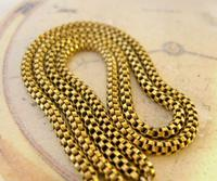 Victorian Pocket Watch Chain 1890s Antique Brass Double Albert With T Bar (5 of 11)