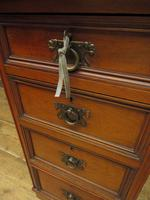 Antique Narrow Office Chest of Drawers (7 of 17)