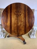 19th Century Rosewood Round Centre Table (4 of 8)