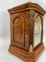 Fine Quality Burr Walnut Bracket / Mantel Clock By Lenzkirch (6 of 11)