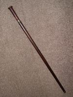Vintage Solid Wooden Walking / Gadget Sword Stick / Cane with Brass Collar (10 of 10)
